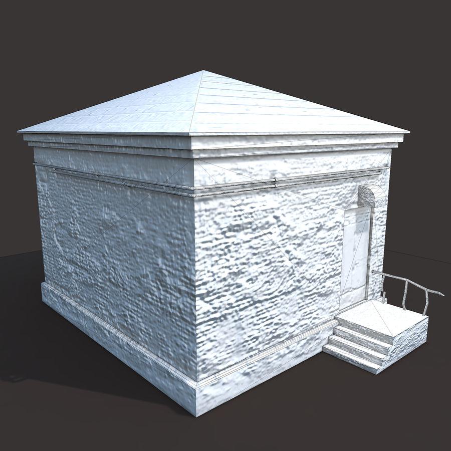 Edificio en ruinas royalty-free modelo 3d - Preview no. 9