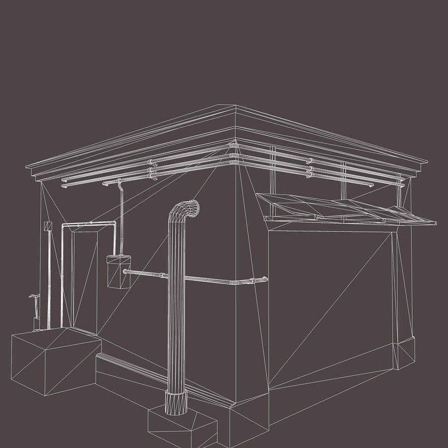 Edificio en ruinas royalty-free modelo 3d - Preview no. 14