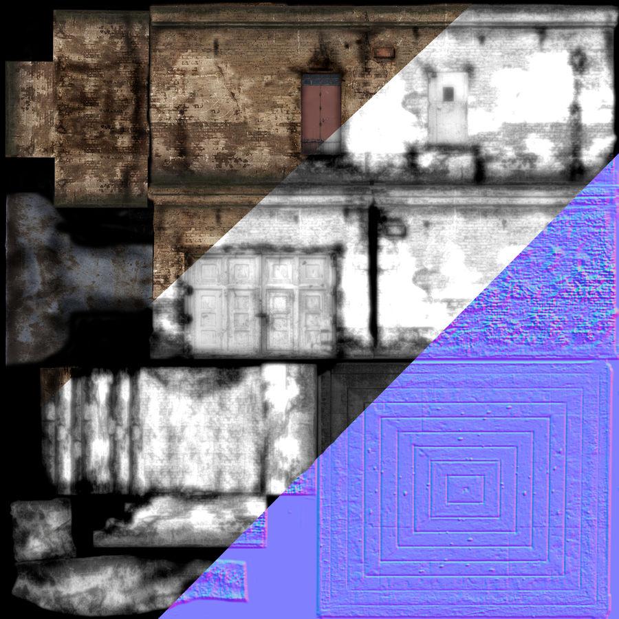Edificio en ruinas royalty-free modelo 3d - Preview no. 6