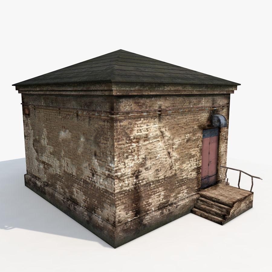 Edificio en ruinas royalty-free modelo 3d - Preview no. 5