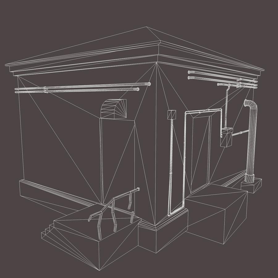 Edificio en ruinas royalty-free modelo 3d - Preview no. 15