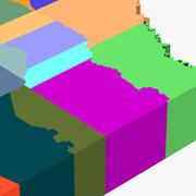 Provincie kaart-Texas 3d model