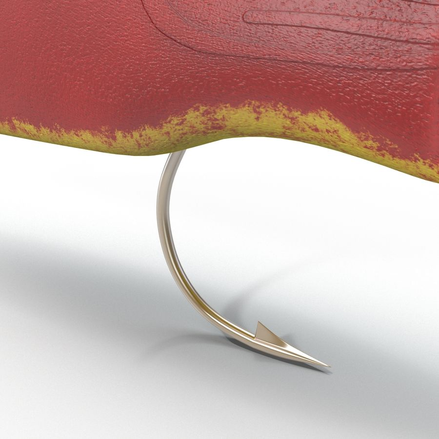 Fishing Lure royalty-free 3d model - Preview no. 6