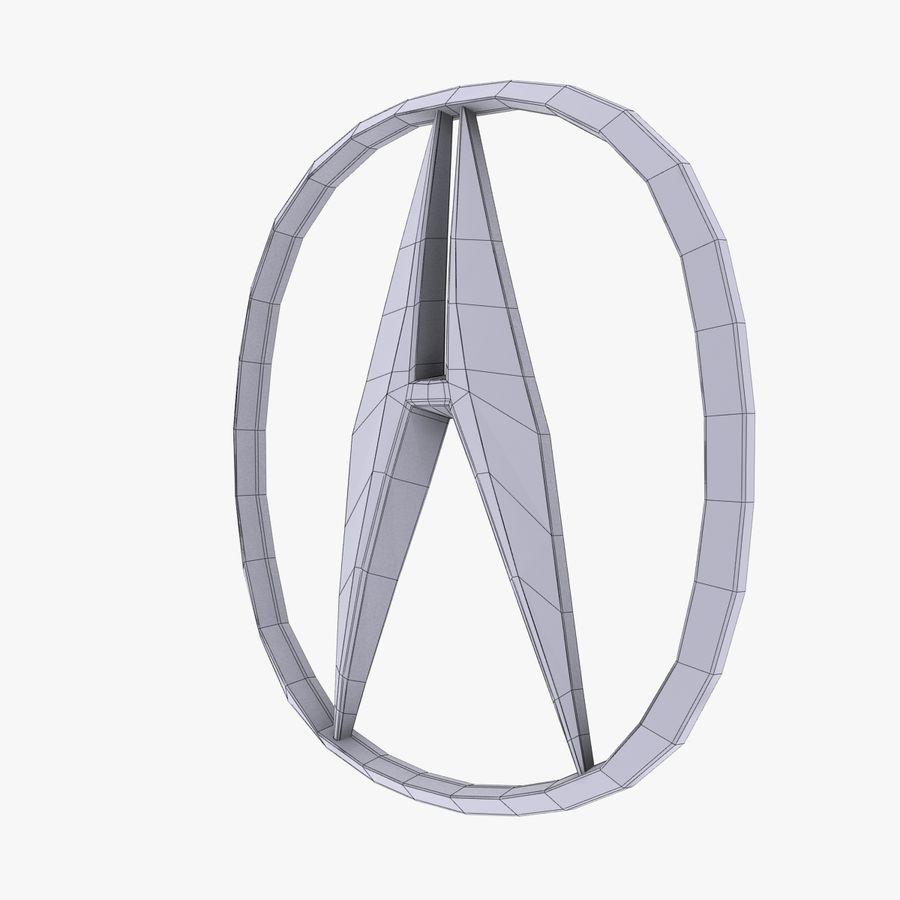 Logotipo de aleación de Acura royalty-free modelo 3d - Preview no. 8