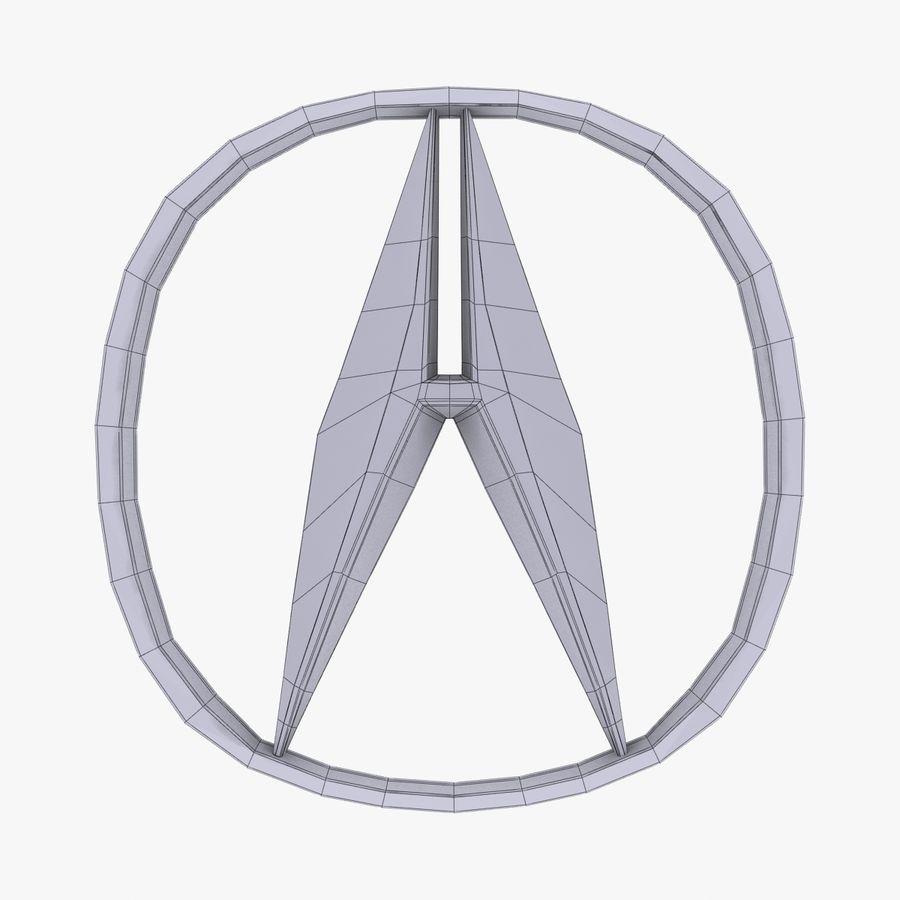 Logotipo de aleación de Acura royalty-free modelo 3d - Preview no. 7