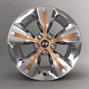 Aleación Hyundai V con logotipo modelo 3d