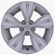 Hyundai V alloy with Logo 3d model