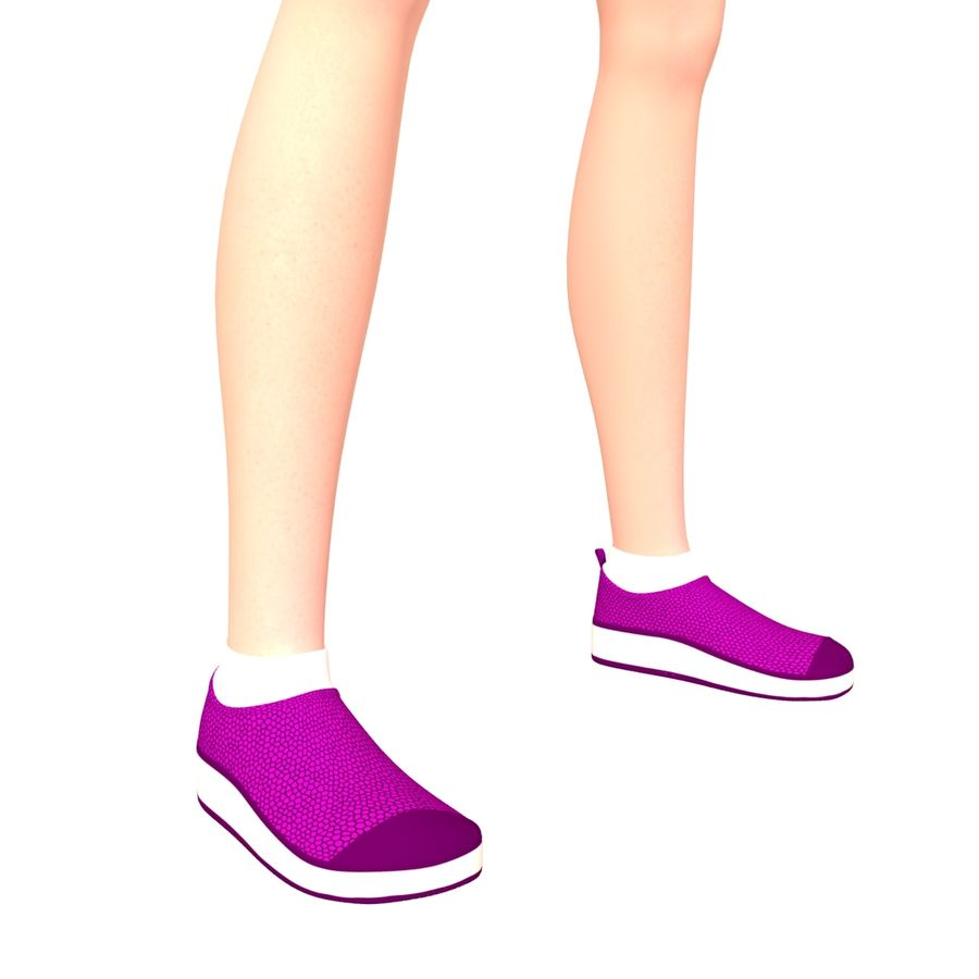 Женщина спорта royalty-free 3d model - Preview no. 9