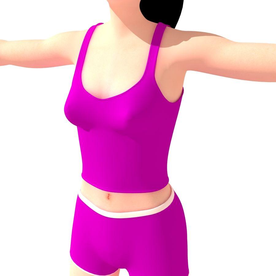 Женщина спорта royalty-free 3d model - Preview no. 8