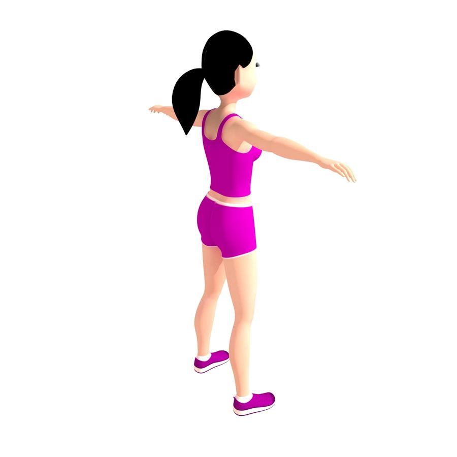 Женщина спорта royalty-free 3d model - Preview no. 5