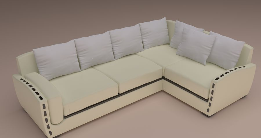 Ecksofa royalty-free 3d model - Preview no. 1