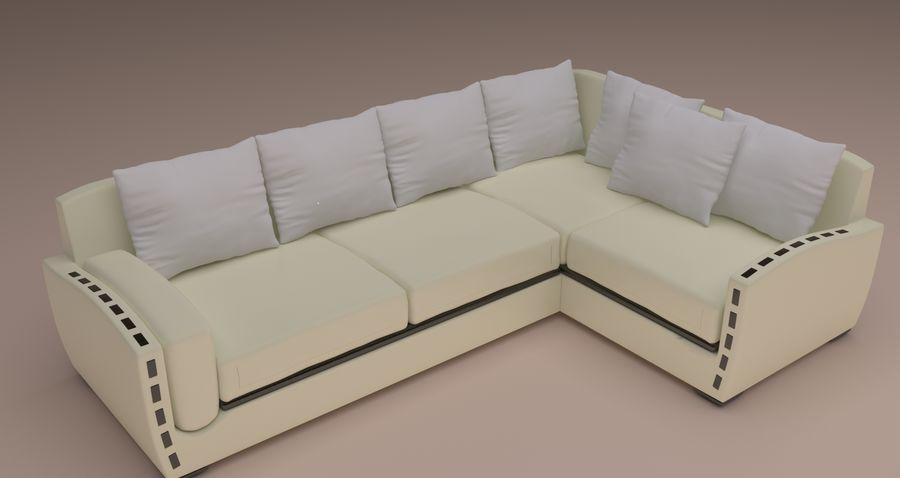 sofa narożna royalty-free 3d model - Preview no. 1