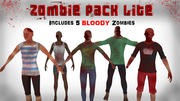 Zombie Pack Lite 3d model