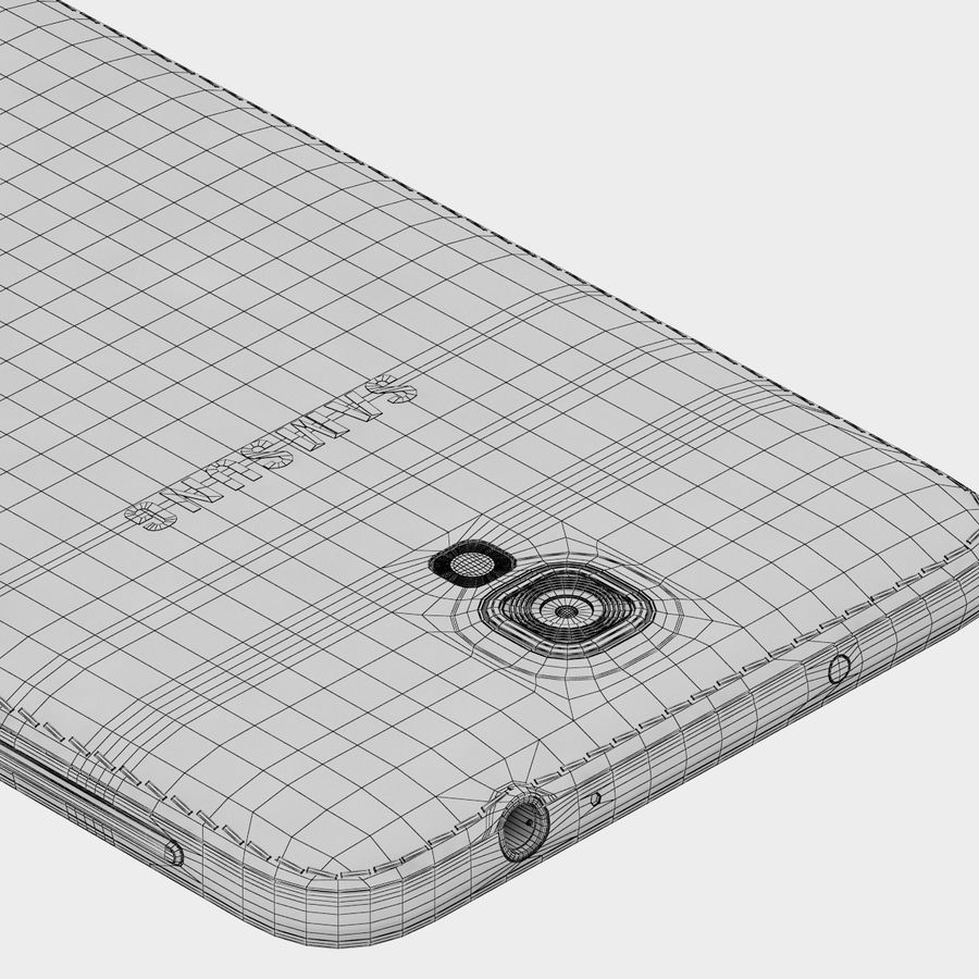 Samsung Galaxy Note 3 Neo Pink royalty-free 3d model - Preview no. 10