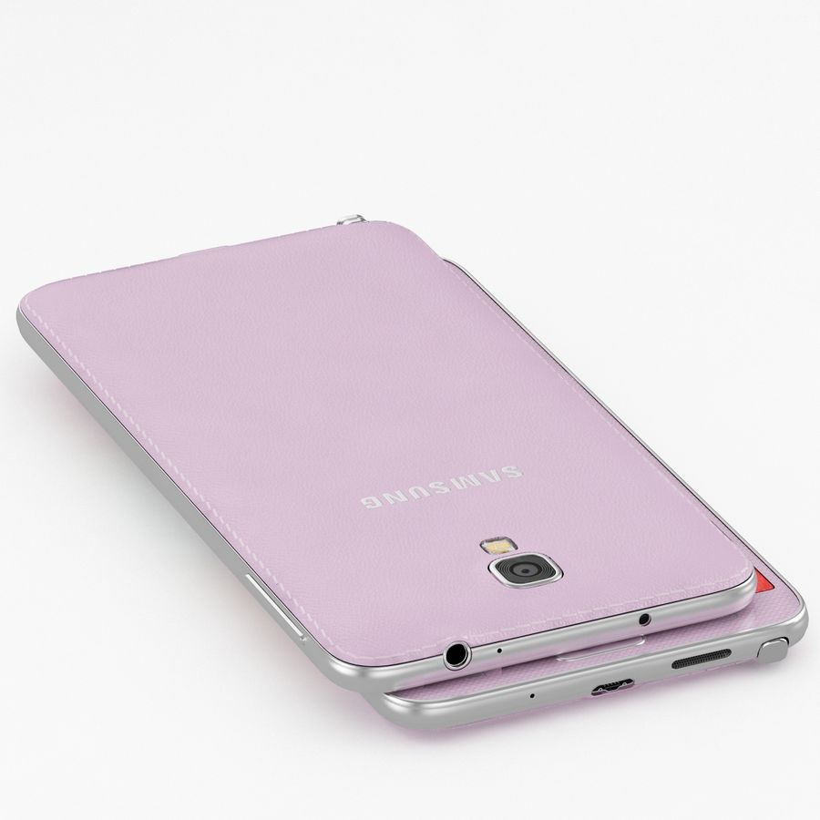 Samsung Galaxy Note 3 Neo Pink royalty-free 3d model - Preview no. 3