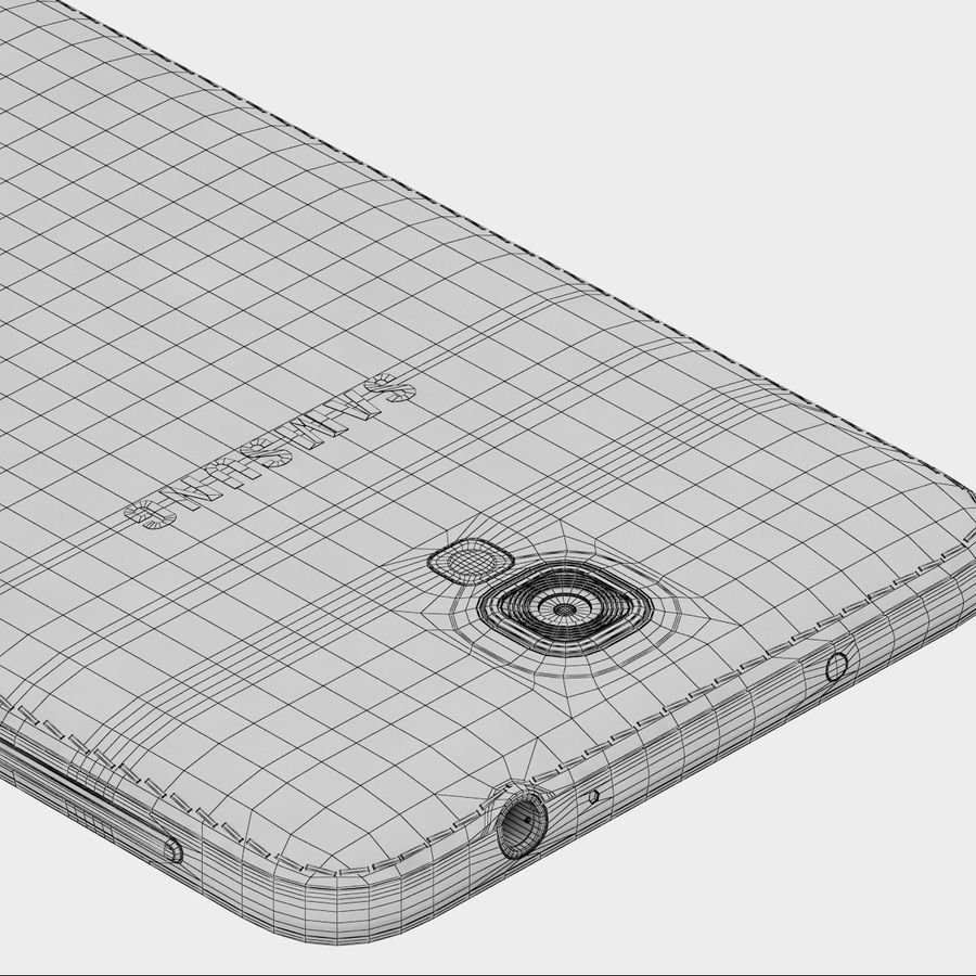 Samsung Galaxy Note 3 Neo Pink royalty-free 3d model - Preview no. 9