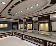 Interior de la tienda modelo 3d
