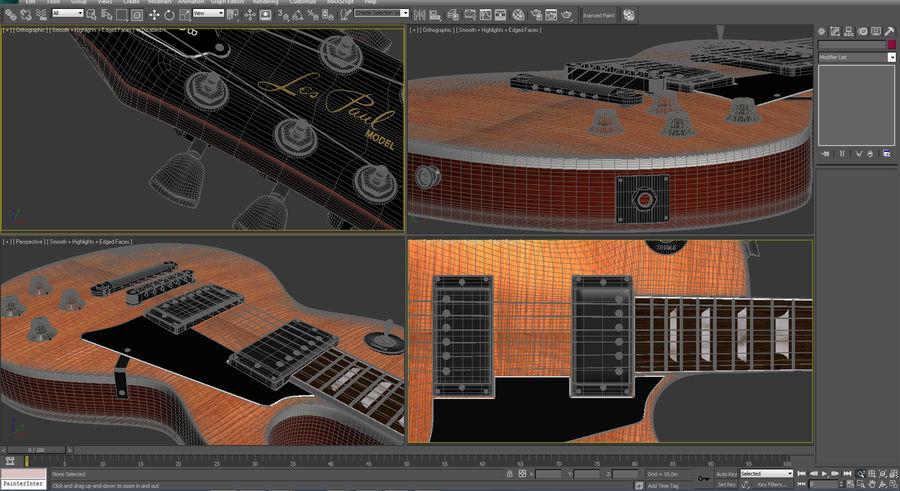 Guitar Les Paul royalty-free 3d model - Preview no. 9