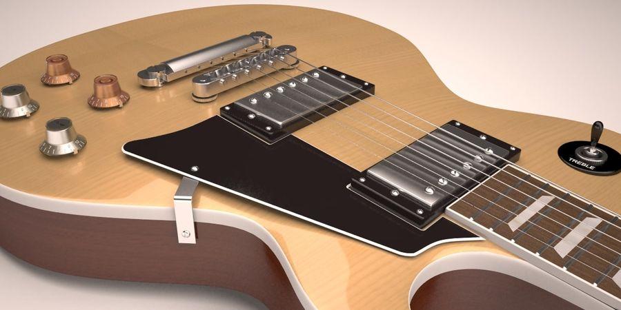 Guitar Les Paul royalty-free 3d model - Preview no. 1