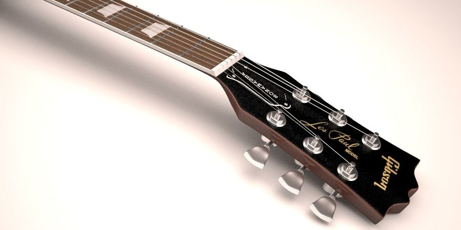 Guitar Les Paul royalty-free 3d model - Preview no. 6