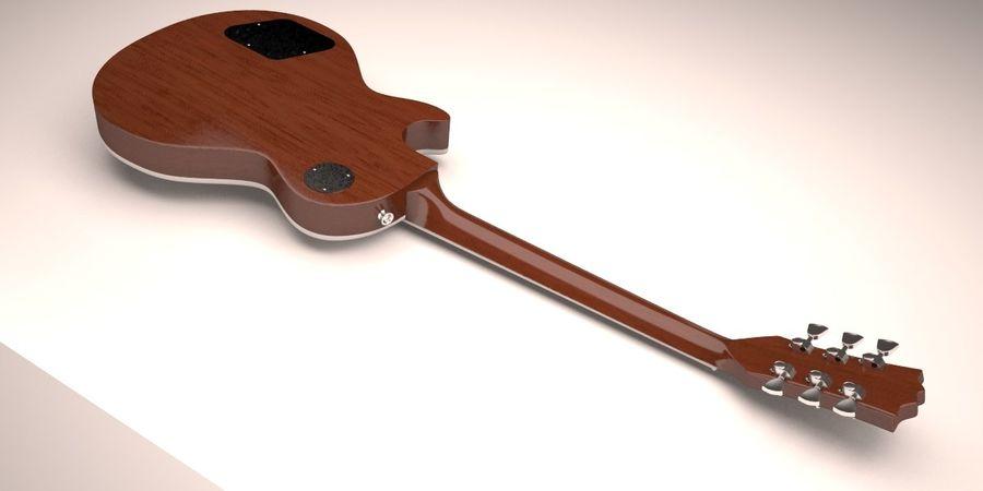Guitar Les Paul royalty-free 3d model - Preview no. 7