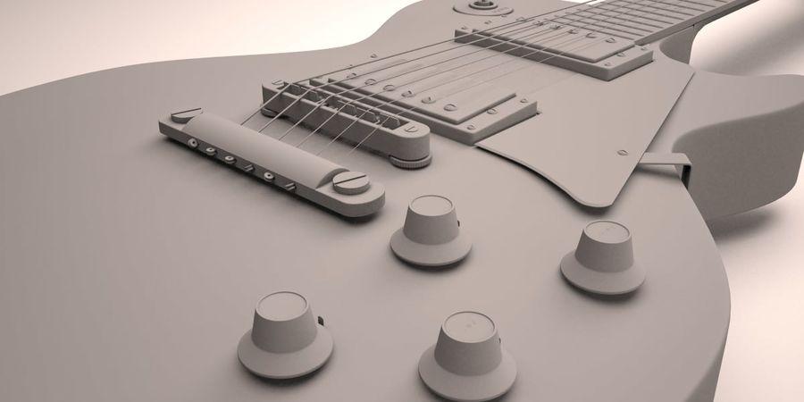 Guitar Les Paul royalty-free 3d model - Preview no. 3
