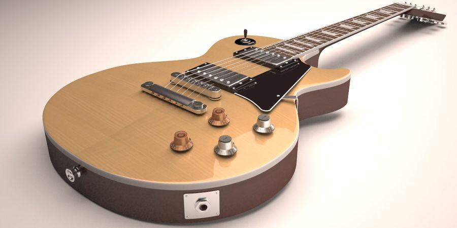 Guitar Les Paul royalty-free 3d model - Preview no. 4