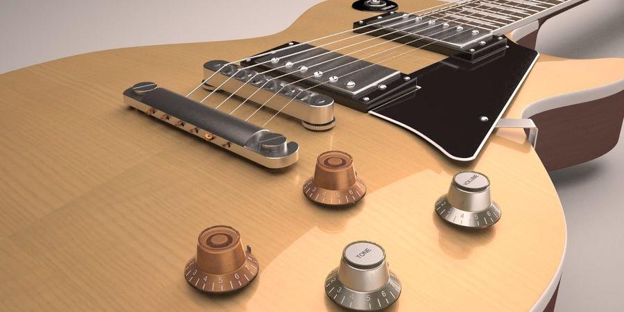 Guitar Les Paul royalty-free 3d model - Preview no. 2