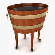 Cantina ovale per vino 3d model