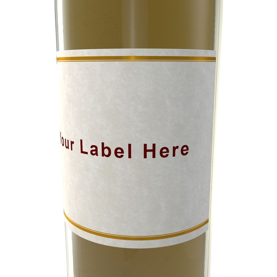 White Wine Bottle royalty-free 3d model - Preview no. 10