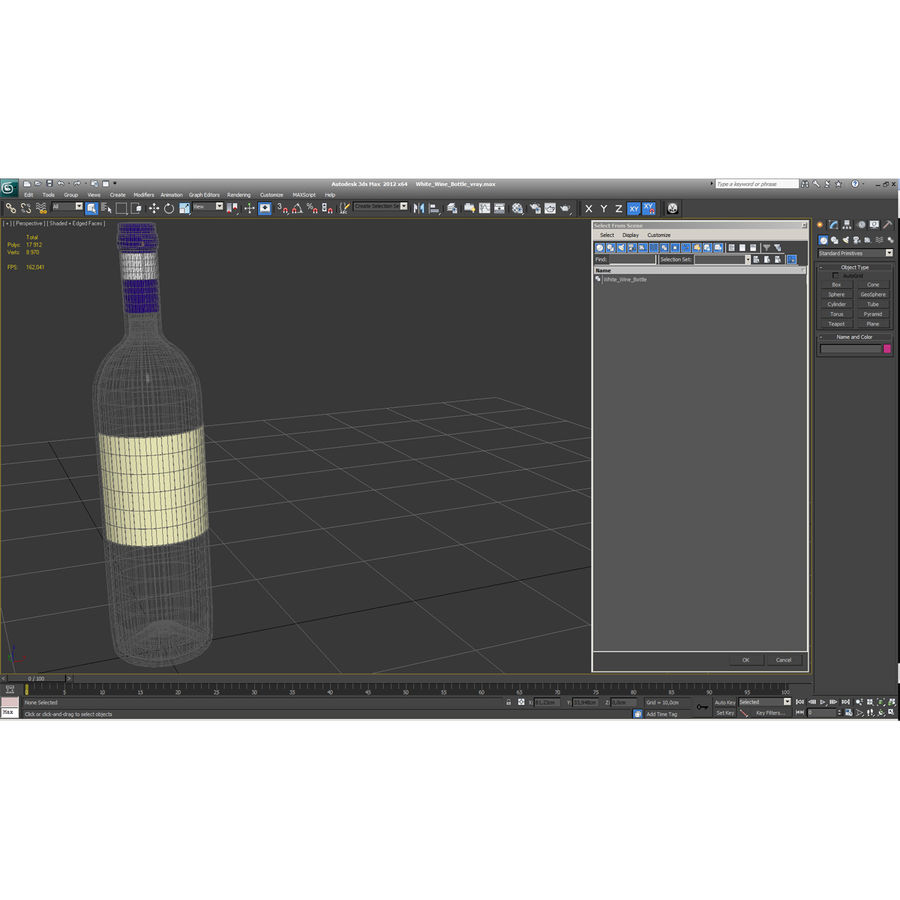 White Wine Bottle royalty-free 3d model - Preview no. 26