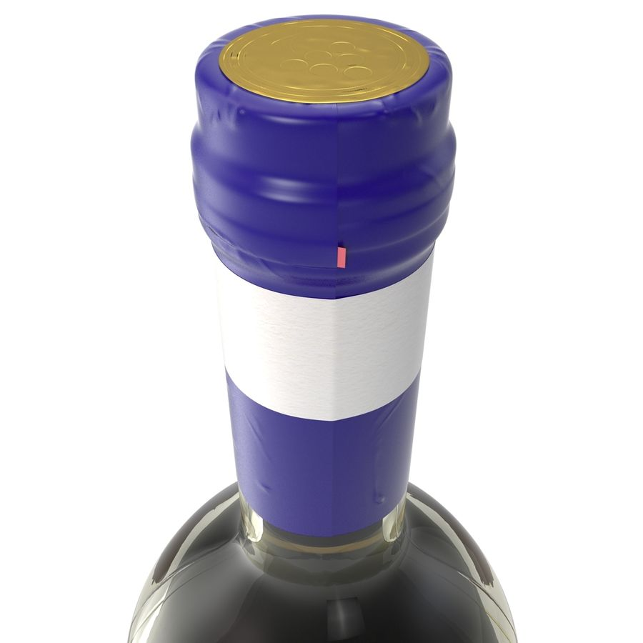 White Wine Bottle royalty-free 3d model - Preview no. 11