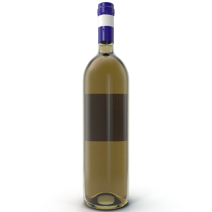 White Wine Bottle royalty-free 3d model - Preview no. 5