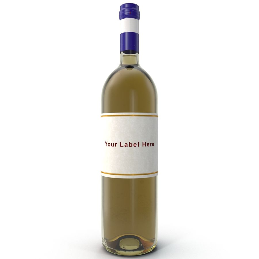 White Wine Bottle royalty-free 3d model - Preview no. 1
