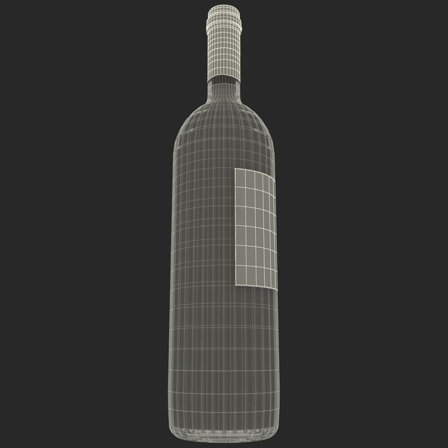 White Wine Bottle royalty-free 3d model - Preview no. 18