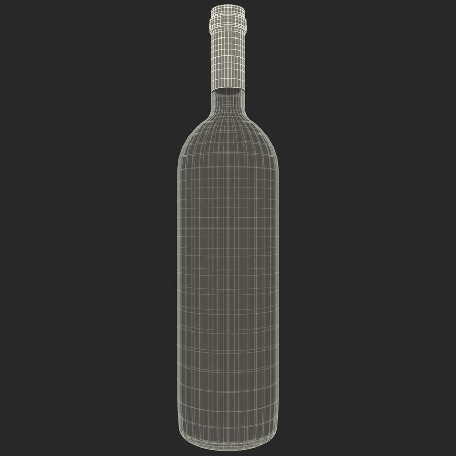 White Wine Bottle royalty-free 3d model - Preview no. 17