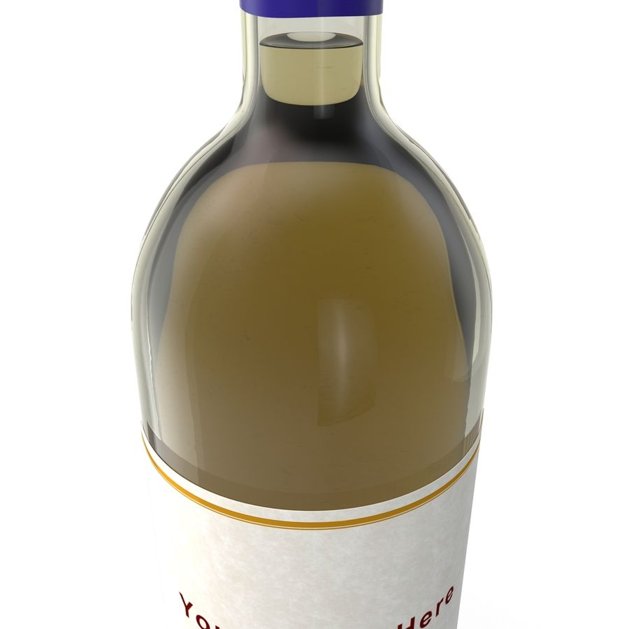 White Wine Bottle royalty-free 3d model - Preview no. 12