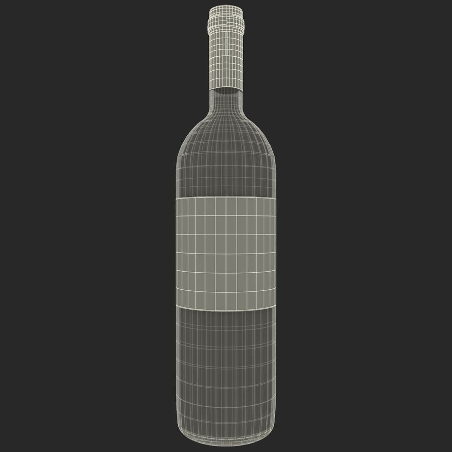 White Wine Bottle royalty-free 3d model - Preview no. 16