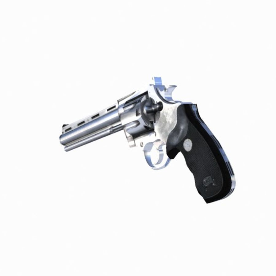 Colt Anaconda Gun royalty-free 3d model - Preview no. 6