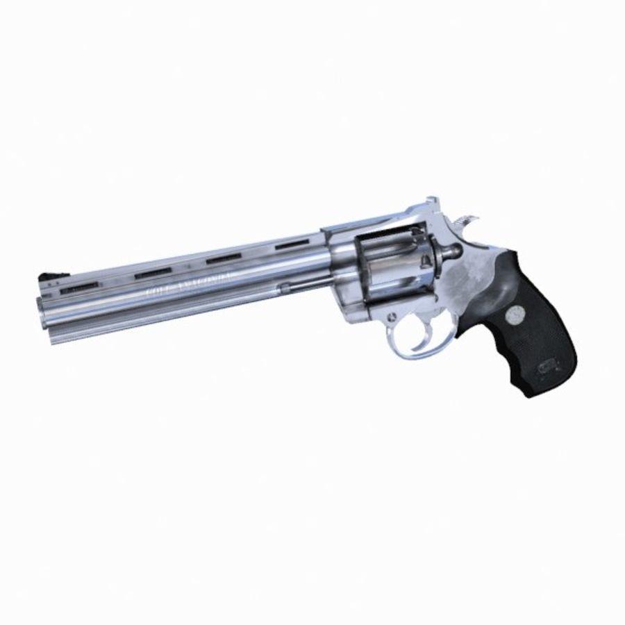 Colt Anaconda Gun royalty-free 3d model - Preview no. 3
