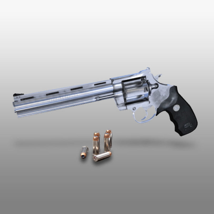 Colt Anaconda Gun royalty-free 3d model - Preview no. 2