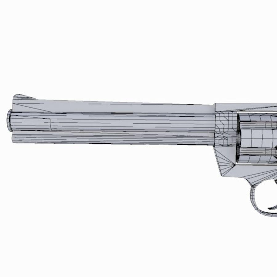 Colt Anaconda Gun royalty-free 3d model - Preview no. 17