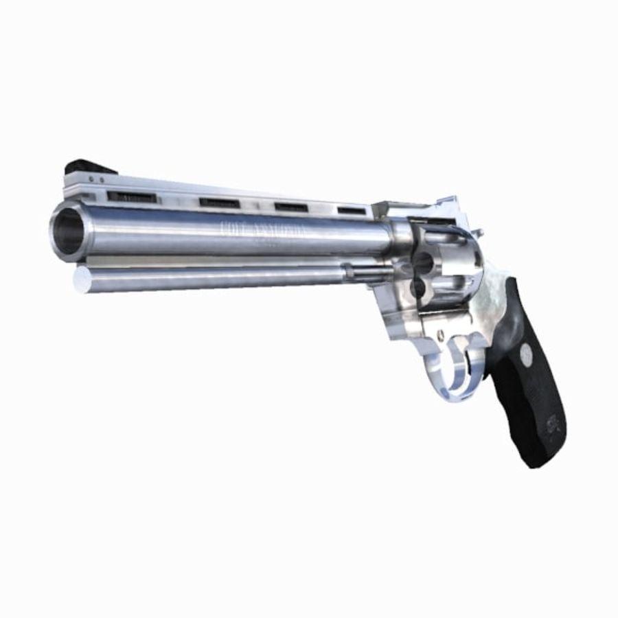 Colt Anaconda Gun royalty-free 3d model - Preview no. 4
