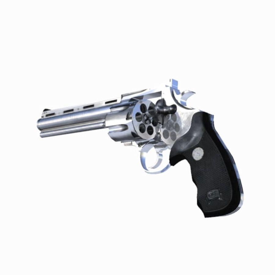 Colt Anaconda Gun royalty-free 3d model - Preview no. 13