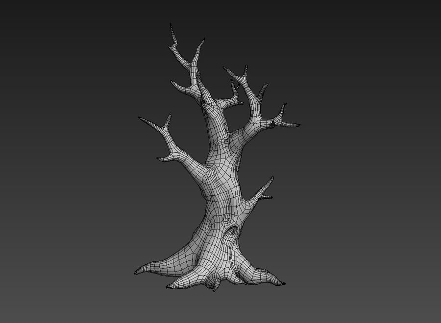 dead tree01 royalty-free 3d model - Preview no. 7