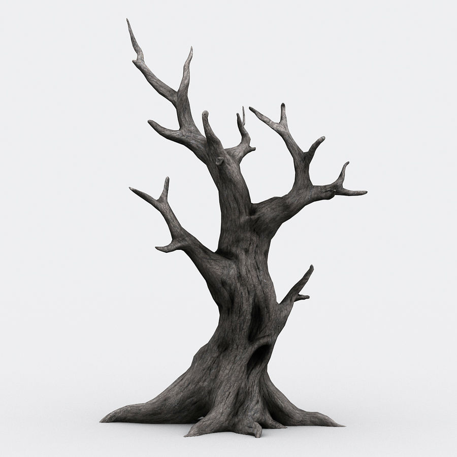 dead tree01 royalty-free 3d model - Preview no. 1
