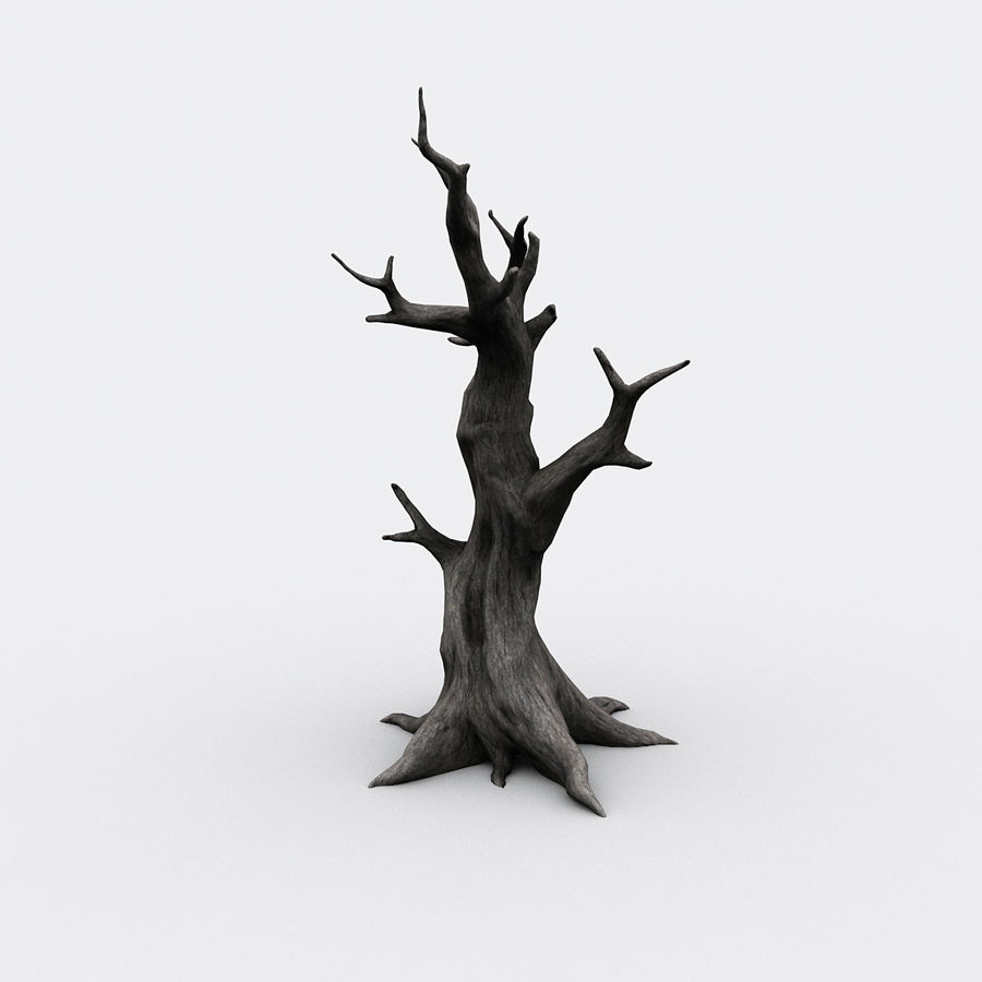 dead tree01 royalty-free 3d model - Preview no. 4