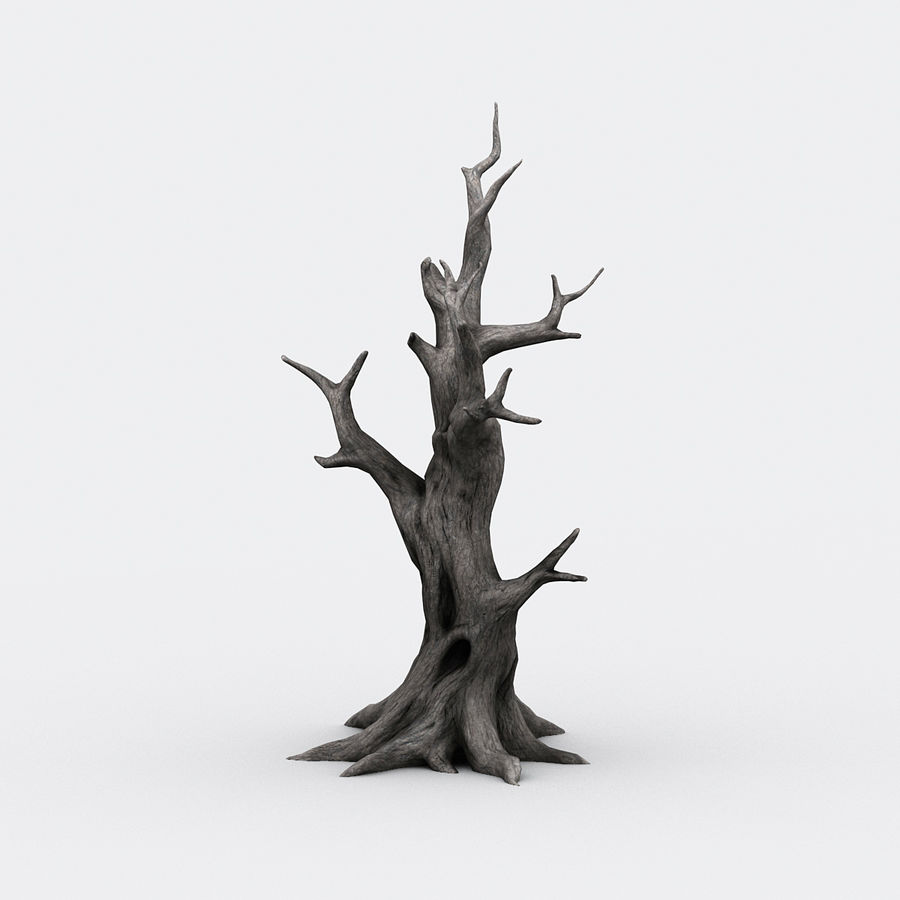 dead tree01 royalty-free 3d model - Preview no. 2