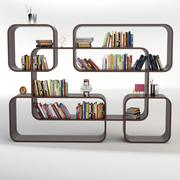 Bookcase 50 with Books 3d model
