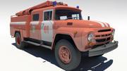 Camion dei pompieri ZIL130 3d model
